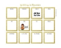 image relating to Birthday List Printable called Absolutely free Birthday Calendar Printable Customizable Plenty of