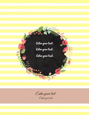 binder cover with yellow stripes