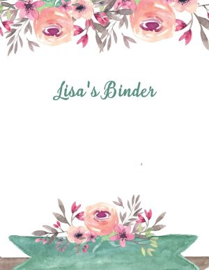 Binder cover templates