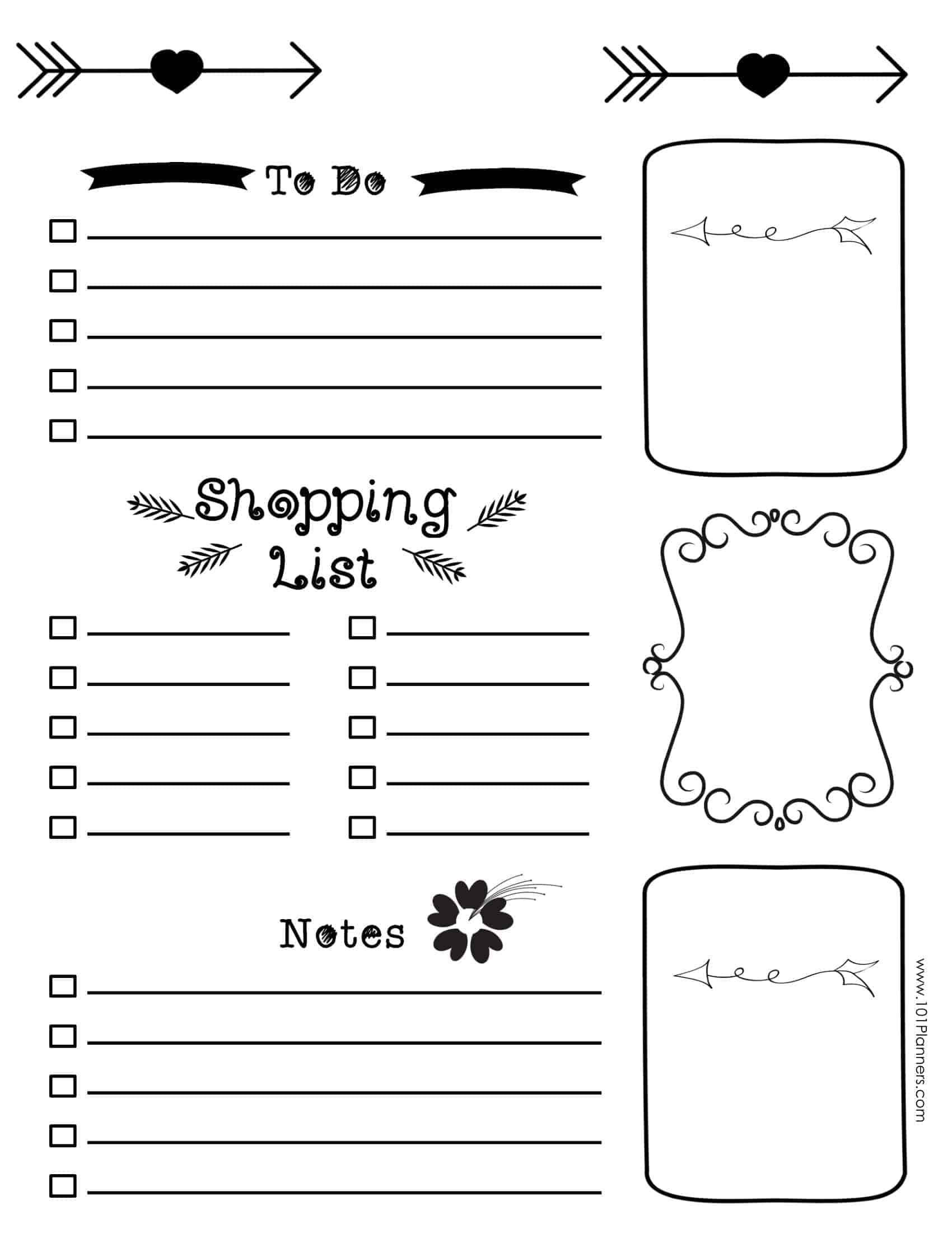free printable templates - free bullet journal printables
