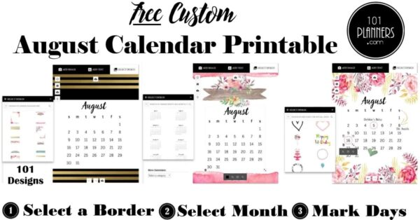 graphic about Free Printable Aug Calendar known as Totally free Printable August 2019 Calendar
