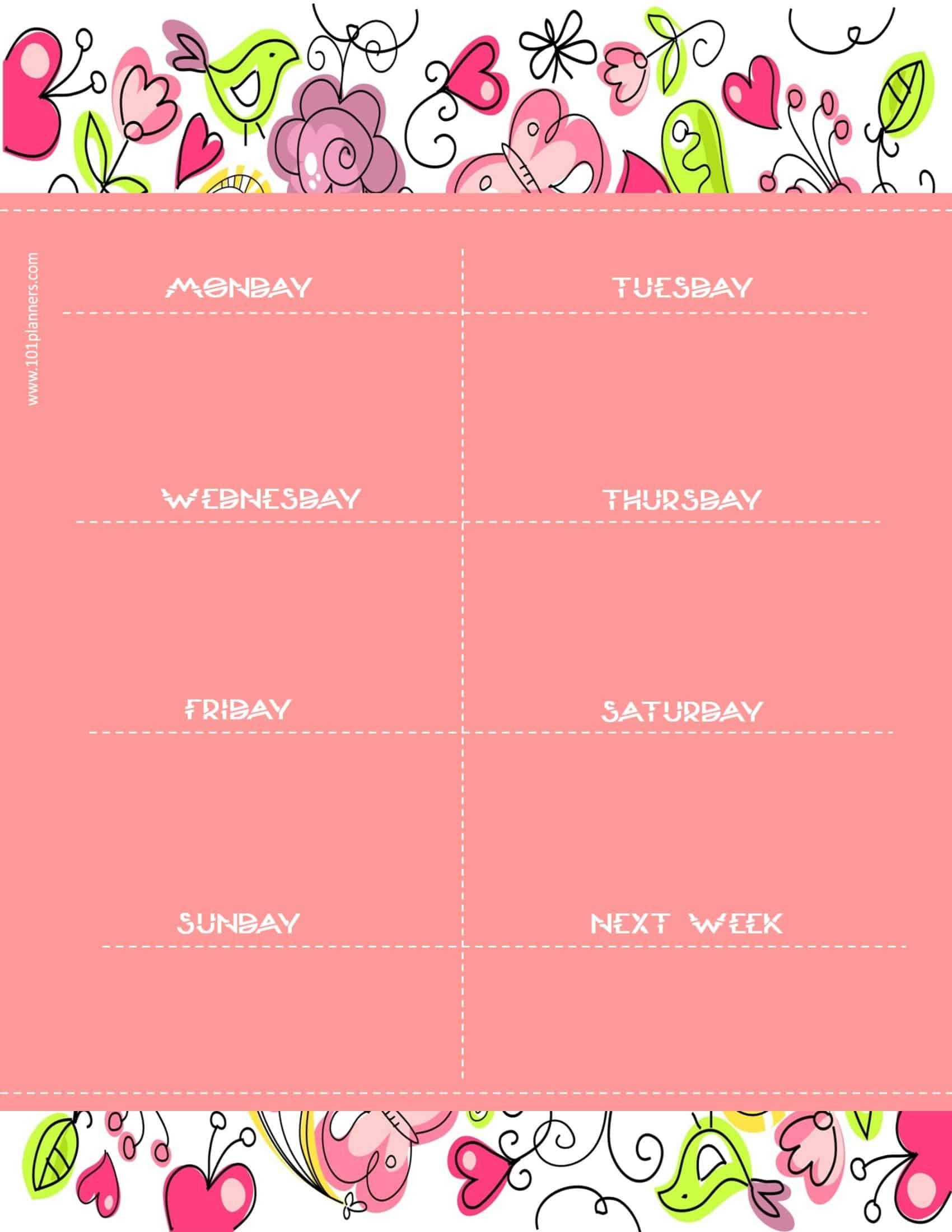 weekly calendar maker