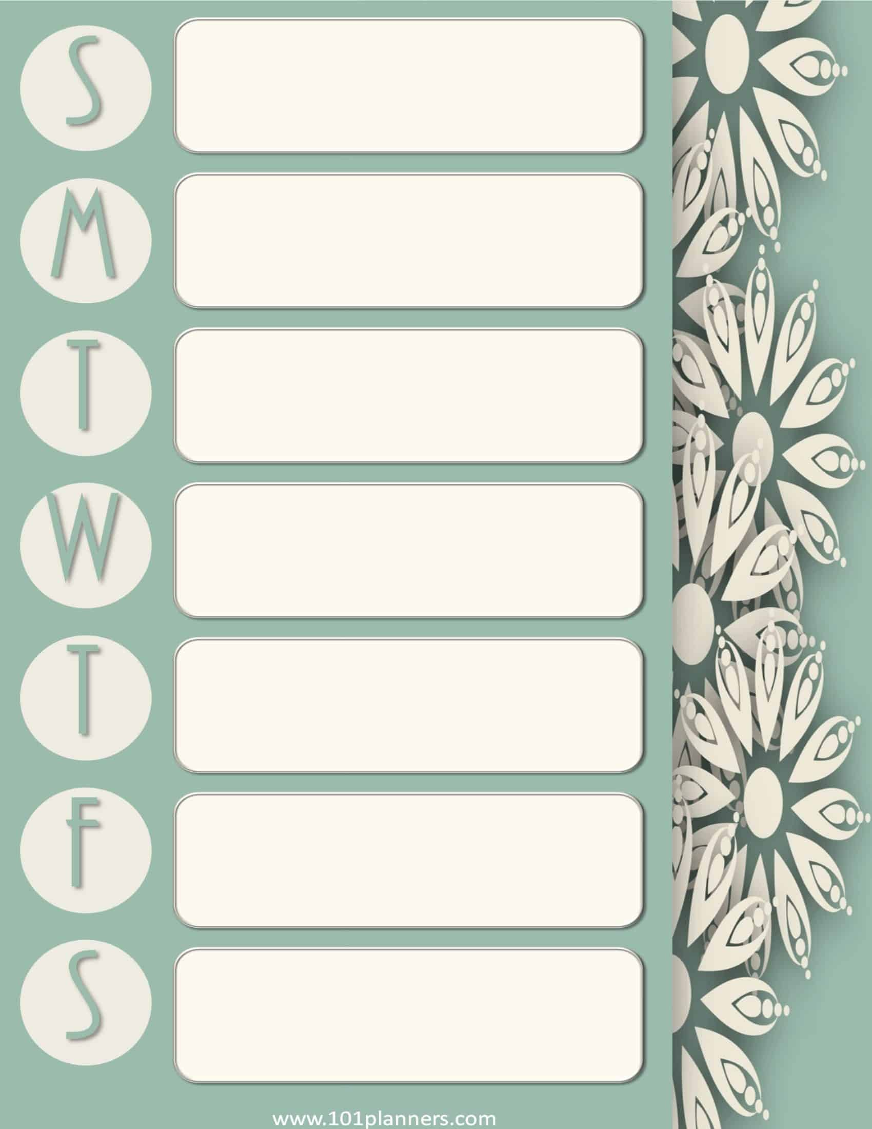 weekly appointment calendar office templates
