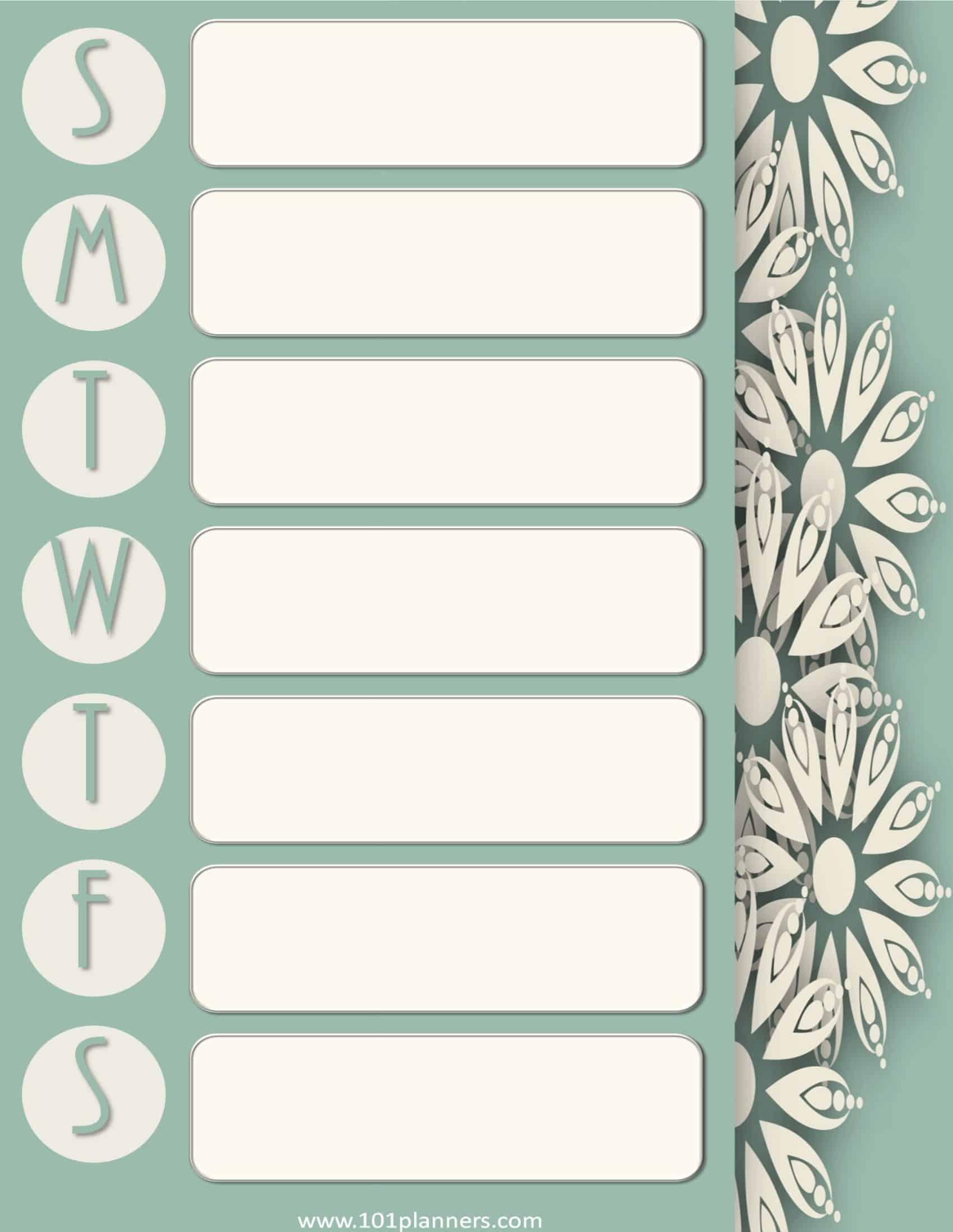 Design Your Own Home Layout Weekly Calendar Maker Create Free Custom Calendars