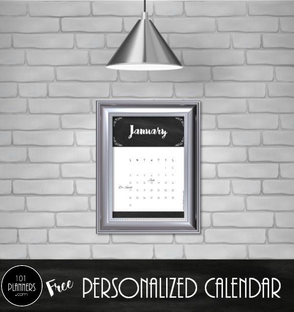 chalkboard calendar template
