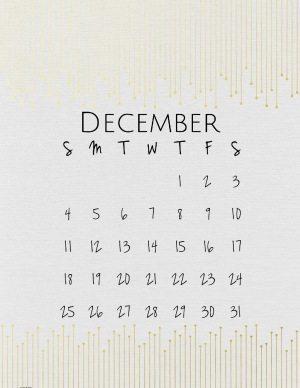 December template