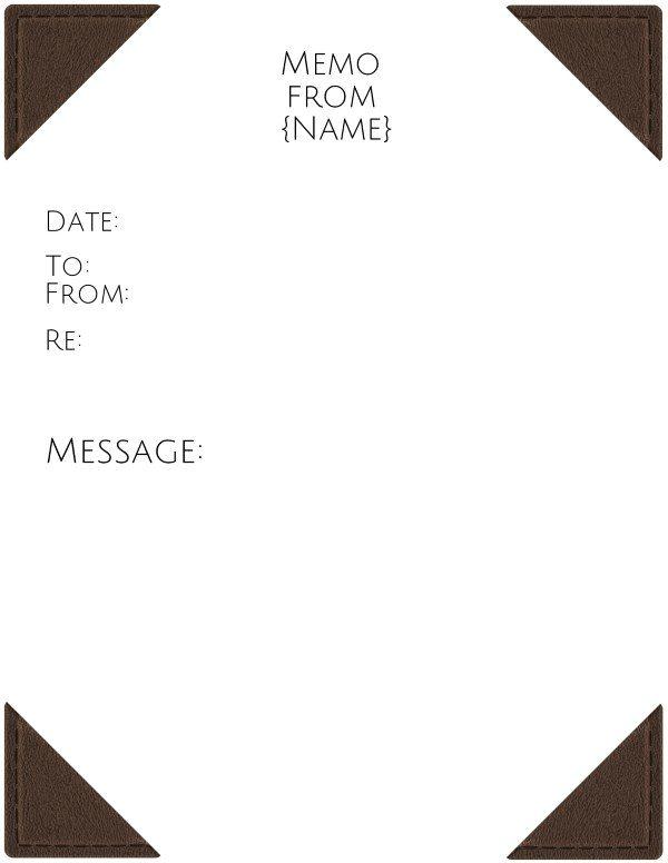 executive memo template