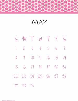 Free may calendar template