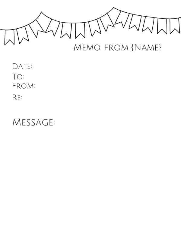 Free Memo Template | Customize Online Then Print
