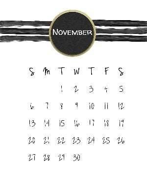 Free printable calendar with holidays that appear when you print