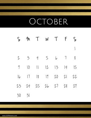 Free Printable October 2019 Calendar Customize Online