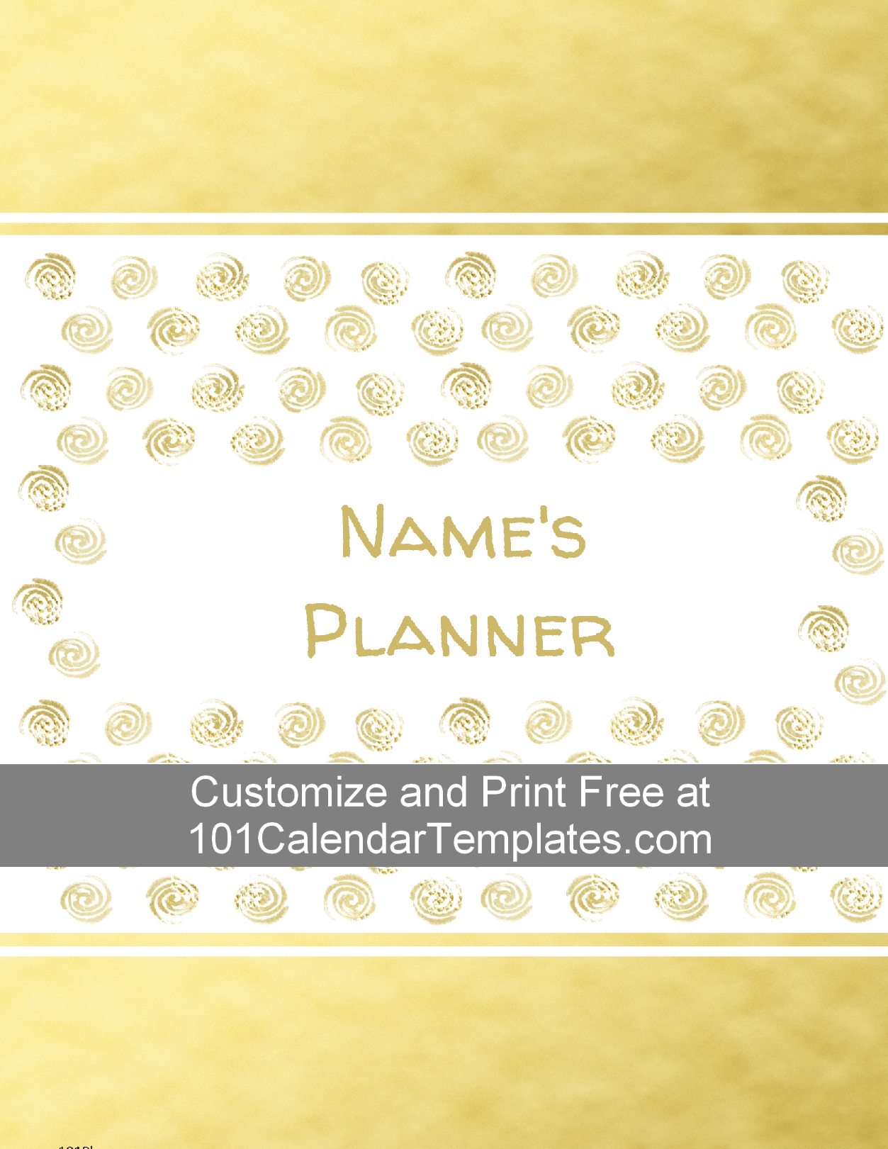 weekly planner with gold stamps