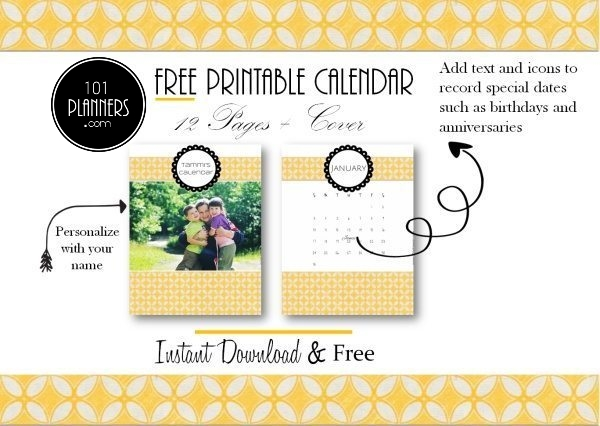 printable calendar templates with a yellow pattern