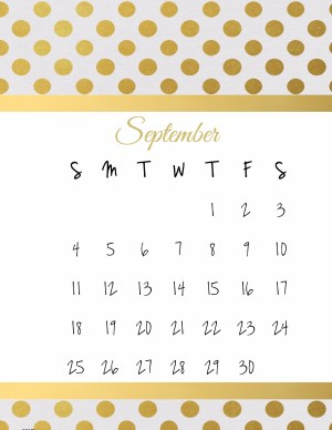 Elegant template for printable calendars