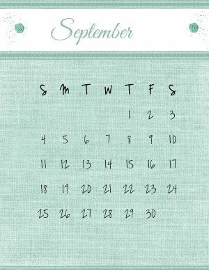 September printable