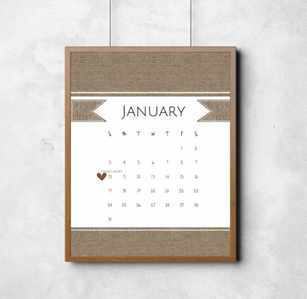 free printable calendar template sample