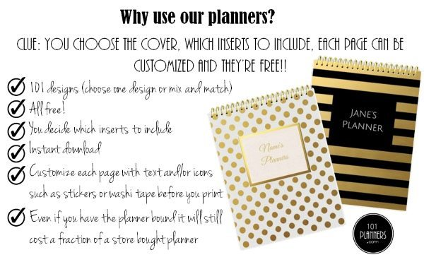 free printable planners