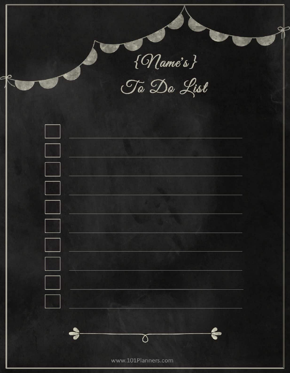 chalkboard to do list printable
