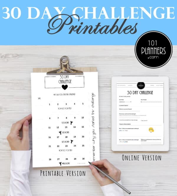 30 day challenge template