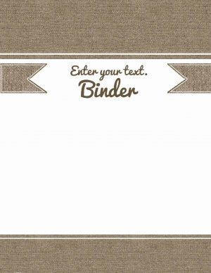 Free printable binder cover template