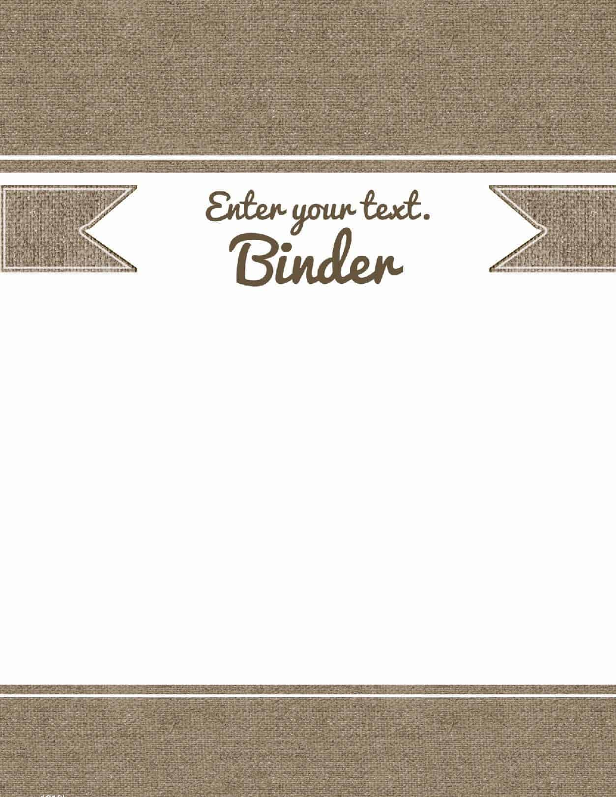 Free Printable Binder Cover Template  Cover Template