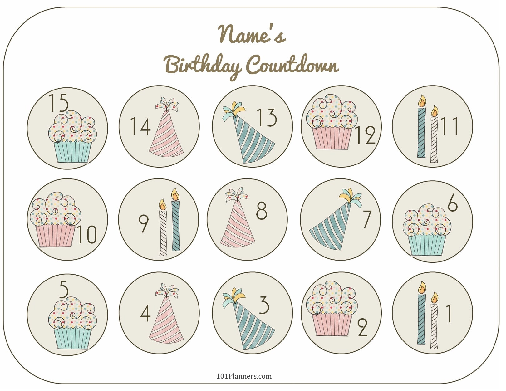 graphic regarding Countdown Printable titled Free of charge Printable Birthday Countdown Personalize On the net