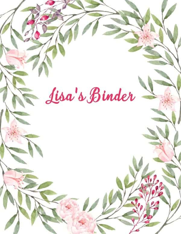 Book Cover Design With Flowers ~ Free binder cover templates