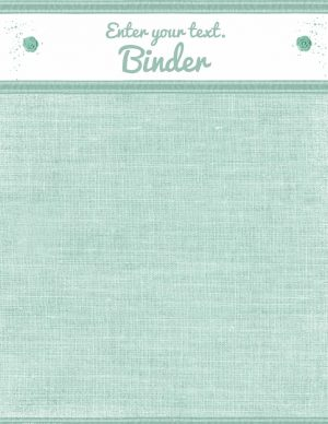 pretty binder cover