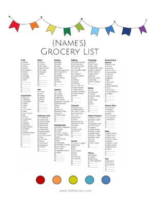 grocery list maker