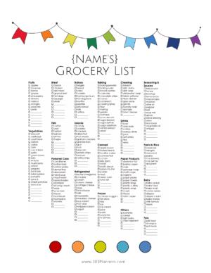 grocery list maker