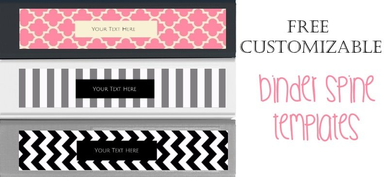 Free Binder Spine Template | Customize Then Print