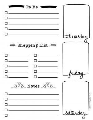 Thursday, Friday and Saturday