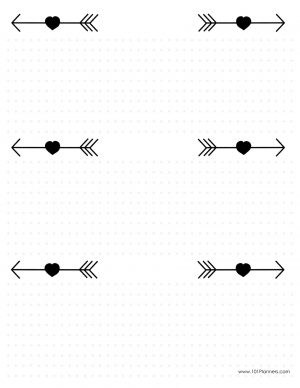6 arrows