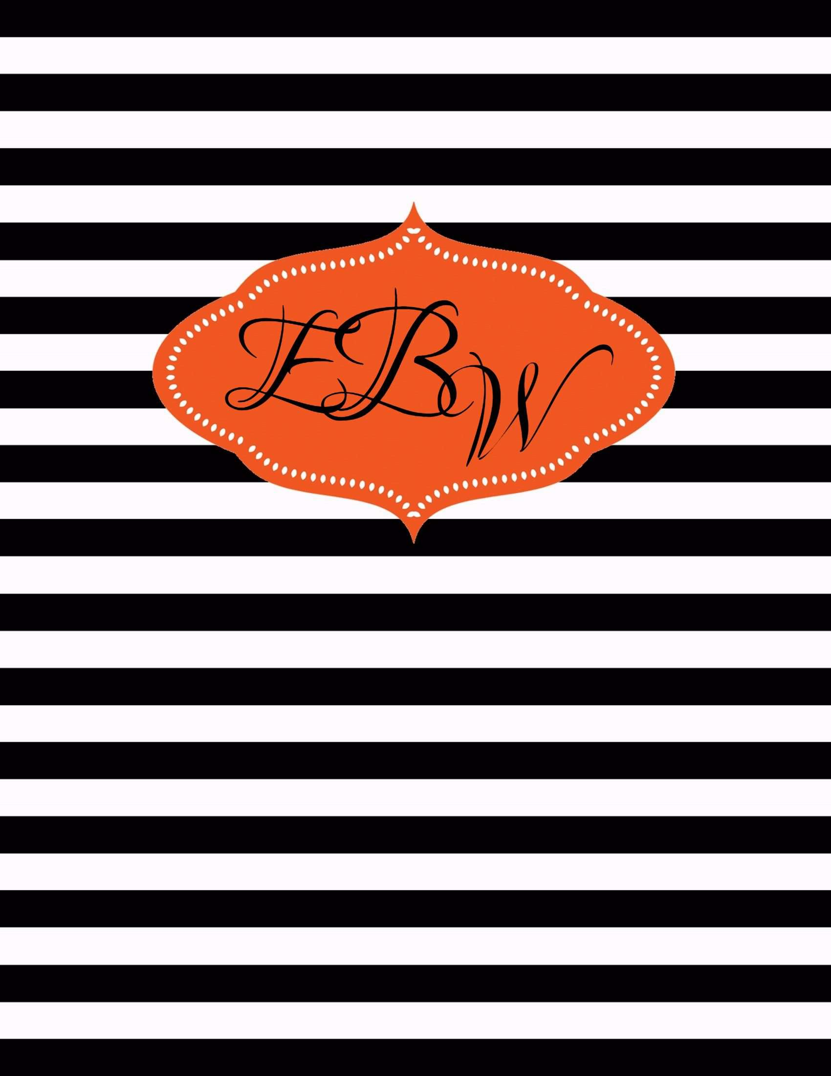 Crafty image within free printable monogram binder cover