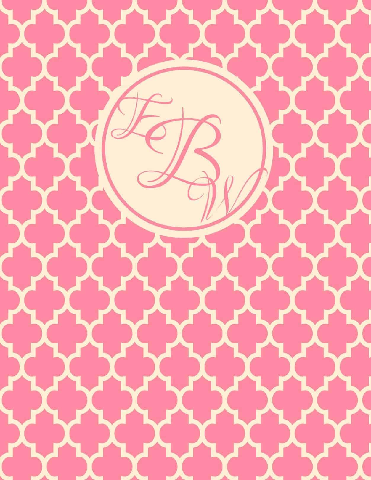 picture regarding Free Monogram Printable named No cost Monogram Binder Protect