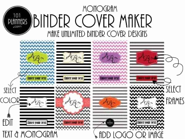 photo relating to Printable Monogram Maker titled Absolutely free Monogram Binder Address