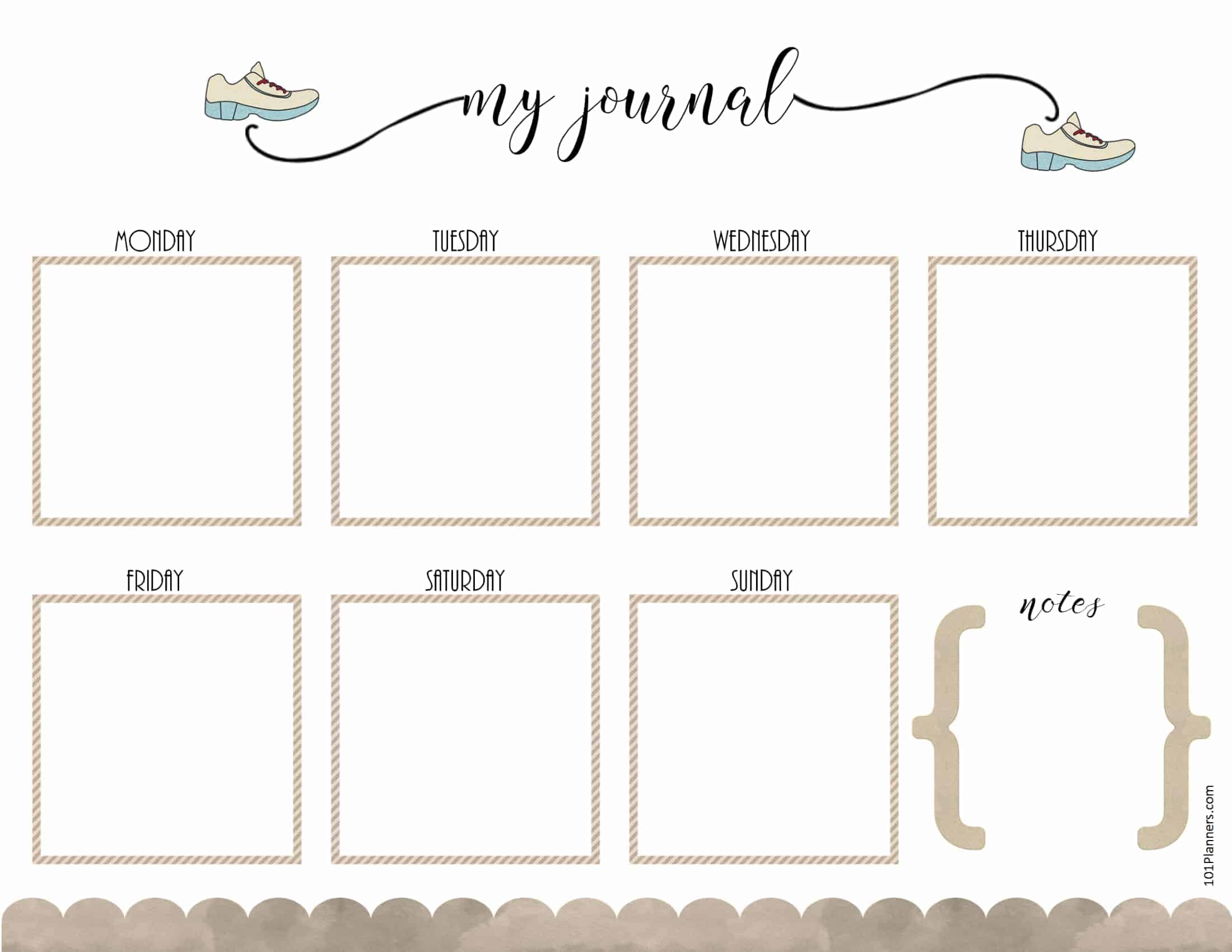 photo relating to Printable Workout Journals identified as No cost Health and fitness Planner Printable Ebook Personalize On line Print