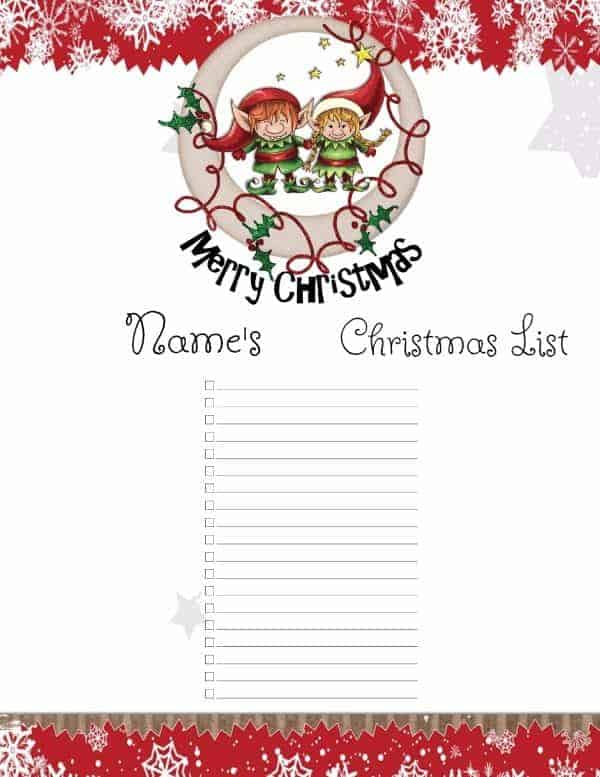 ... Christmas Wish List Ideas Christmas List Template ...  Free Christmas List Template