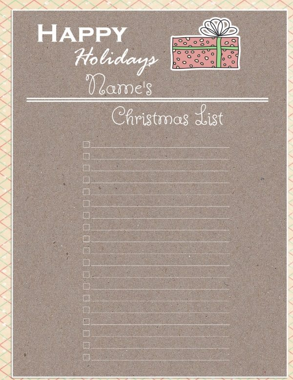 Grown Up Christmas List