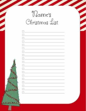 Free Christmas List Template Customize Online Print At Home