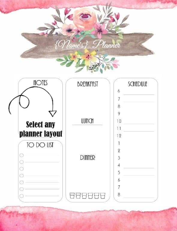 Free Daily Planner Template | Customize then Print