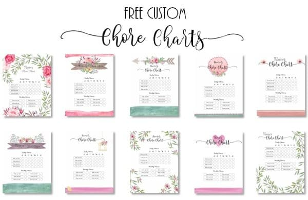 chores list for adults printable