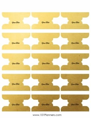 Free Divider Tabs Template Customized Printable Tab Dividers - Divider tabs template