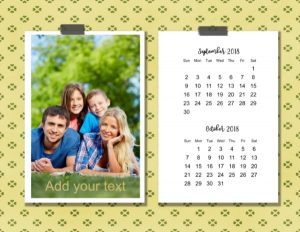 Two month calendar