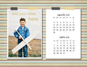 2 month calendar 2018