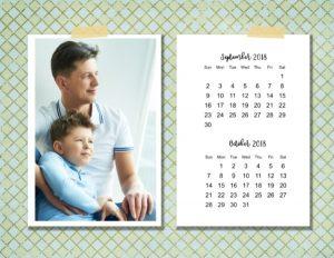 Printable 2 month calendar