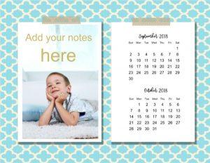 Printable two month calendar