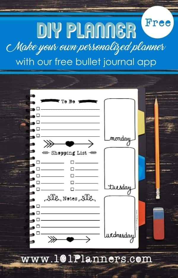 photograph regarding Diy Planner Templates referred to as Free of charge Bullet Magazine Printables Personalize On the web for Any