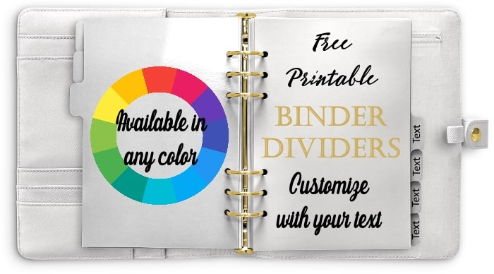 Free Divider Tabs Template | Customized Printable Tab Dividers