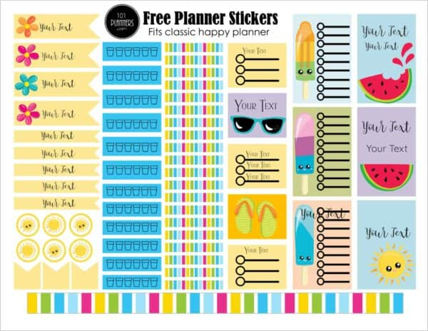 photograph relating to Free Printable Happy Planner Stickers named Free of charge Satisfied Planner Printables Personalize On line Print at Household